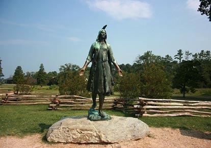 Statue-of-Pocahontas