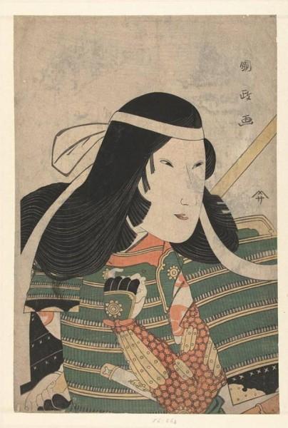 Томоэ Годзен, рисунок на шёлке, Токийский национальный музей.