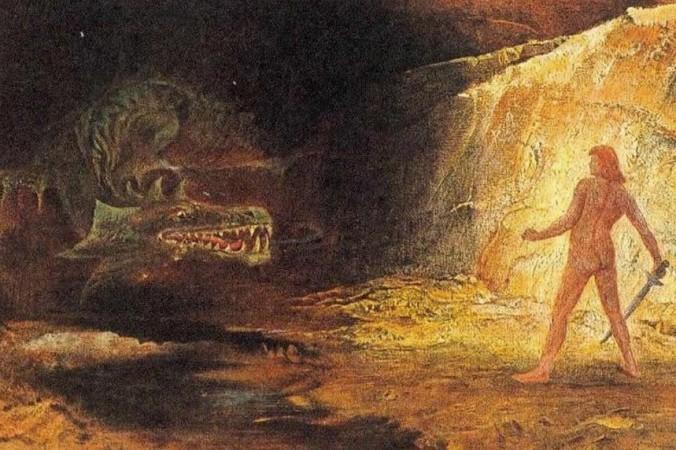 Сигурд и Фа́фнир. Фафнир был сыном короля-карлика Хрейдмара. После того, как на него подействовало проклятие кольца и золота Андвари, Фафнир превратился в дракона и был повержен Сигурдом. Фото: Public domain
