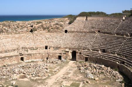 Leptis Magna - amphitheatre لبدة الكبرى - المدرج الروماني