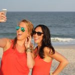 селфи, девушки, море, фото