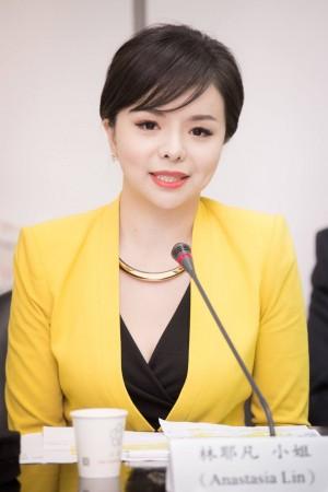 Анастасия Линь выступает в законодательном совете Тайваня. Фото: Bai Zhou Chen via
