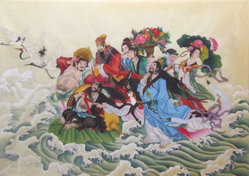 «Восемь бессмертных пересекают море». Фото: Huang Yi/inkdancechinesepaintings.com