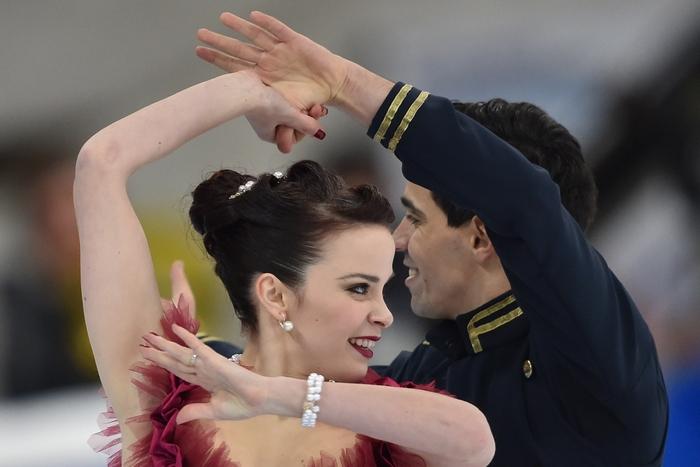 Анна Каппеллини и Лука Ланотте. Фото: KIRILL KUDRYAVTSEV/AFP/Getty Images