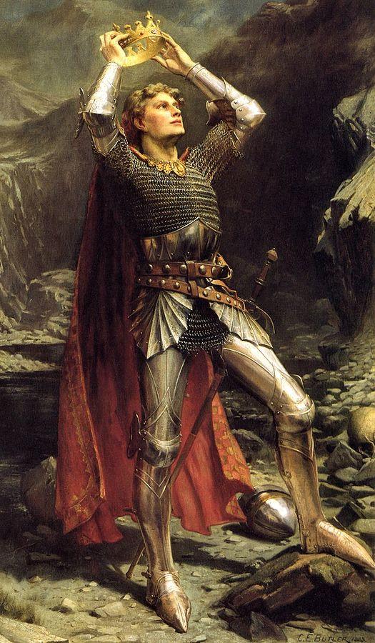 Король Артур. Картина Чарльза Эрнеста Батлера, 1903 год. Фото: Nicolas Perrault III/wikipedia.org/public domain