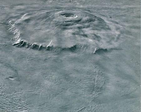 Вулкан Олимп на Марсе. Фото: NASA