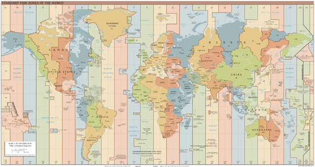 Карта часовых поясов. Фото:  Foghe/wikipedia.org/CC BY-SA 4.0