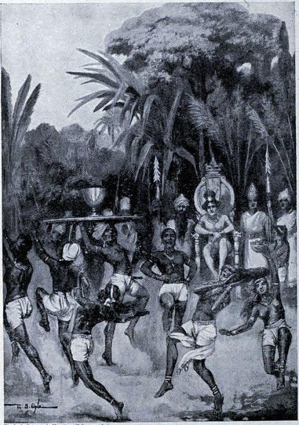 Послы Ашоки заключают мир. Иллюстрация из «Истории наций» Хатчинсона. После завоевания Калинги Ашока раскаялся и стал верующим буддистом. Фото: Public Domain
