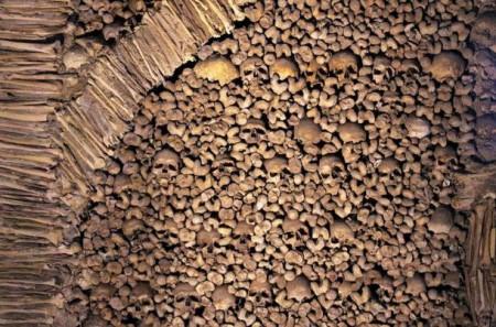На стенах часовни видны костные фрагменты и множество черепов. Фото: Ken & Nyetta / CC BY 2.0