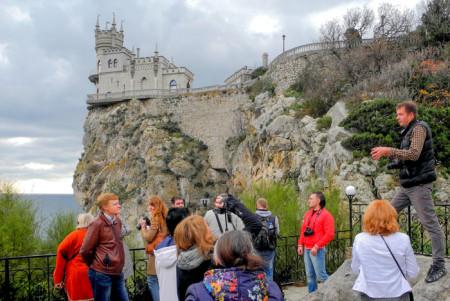 Замок на скале Ласточкино гнездо. Фото: Алла Лавриненко/Великая Эпоха