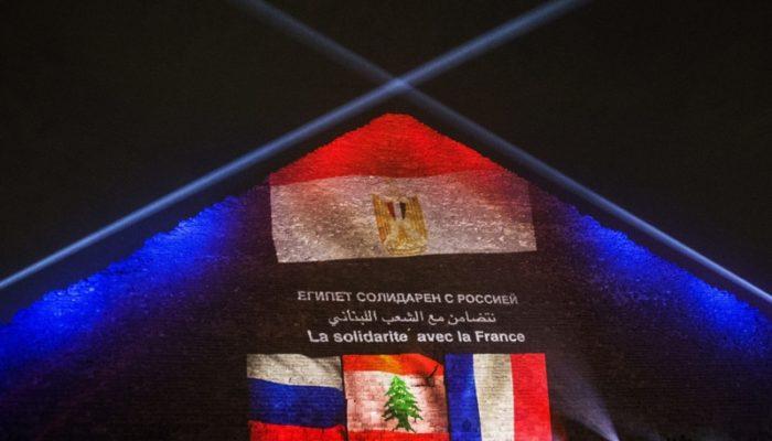 Пирамиду Хеопса осветили цветами флагов России, Франции и Ливана
