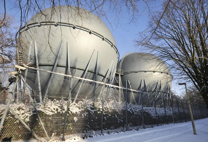 Хранилища российского газа на Украине