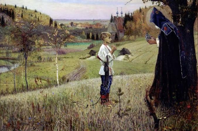Картиной М. В. Нестерова «Видение отроку Варфоломею» (1890) часто иллюстрируют начало символистского движения. Фото: wikipedia/Publik Domain