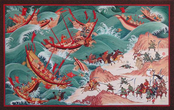 Первое вторжение монголов в Японию. Фото: beyondsilkroads.tumblr.com
