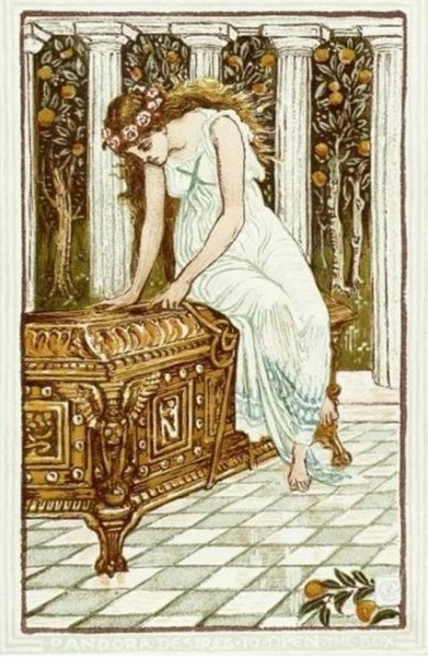 «Пандора и запретный ящик», Уолтер Крейн. Фото: Wikimedia Common