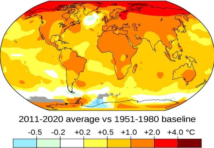 Глобальная температура впервые повысится на один градус