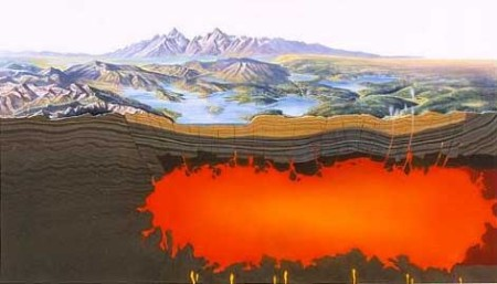 Магма в кальдере супервулкана. Фото: דקי/wikipedia.org/Public Domain