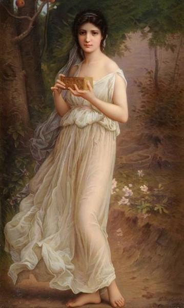 Пандора была красавицей. Когда Эпиметей увидел её, он забыл о предупреждении, не брать подарков от Зевса. Фото: Wikimedia Common