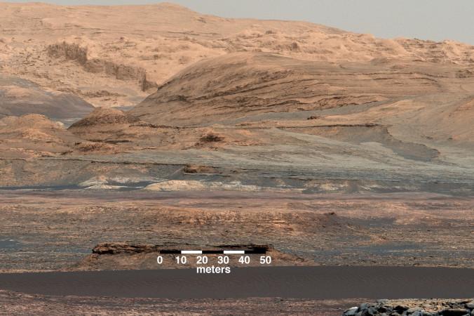Движение марсианских дюн. Фото: NASA