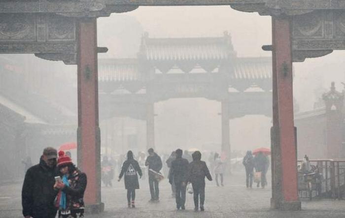 Смог в Китае. Город Шэньян провинции Ляонин. Ноябрь 2015 года. Фото с epochtimes.com