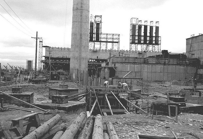 Строительство «Реактора B» (1944 г.). Фото: Cacophony/wikipedia.org/ public domain