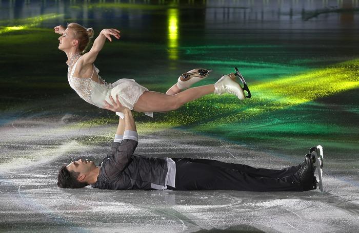 Татьяна Волосожар и Максим Траньков. Фото: Chung Sung-Jun/Getty Images