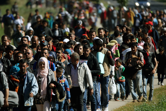 Европа, беженцы, Сирия