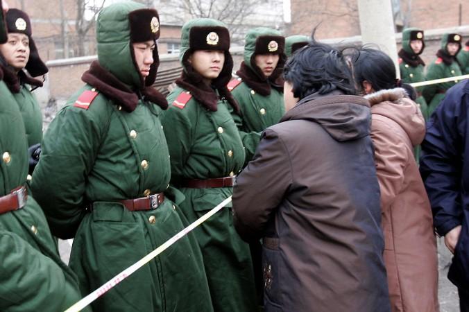 Военизированная полиция на северо-востоке Китая, февраль 2005 г. Фото: AFP/Getty Images