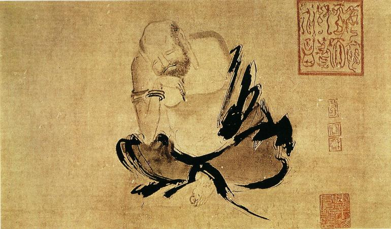 «Размышляющий Хуэйкэ». Ши Кэ, X век. Фото: ru.wikipedia.org