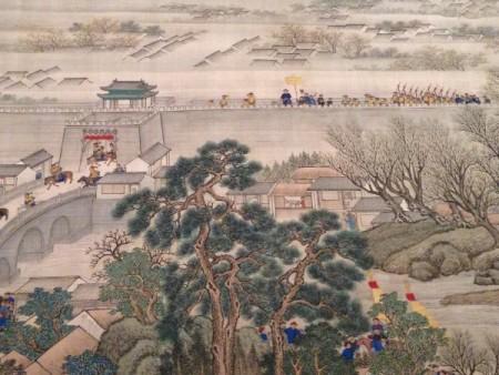 «Иллюстрации южной поездки», Ван Хуэй (1632–1717) и ученики, династия Цин (1644–1911), ок. 1698 г., тушь и краски по шёлку. Фото: Courtesy of The Metropolitan Museum of Art