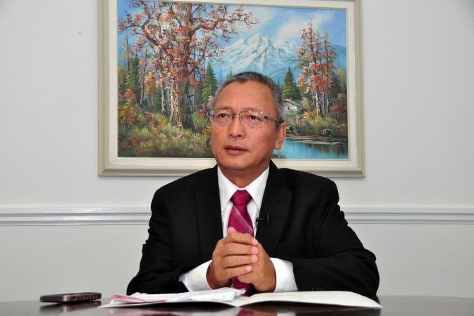 Се Вэйдун, бывший судья Верховного суда Китая. Фото: Zhou Xing/Epoch Times
