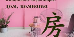 Китайский иероглиф 房 (дом, комната)