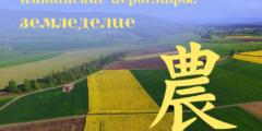 Китайские иероглифы: 農 (земледелие)