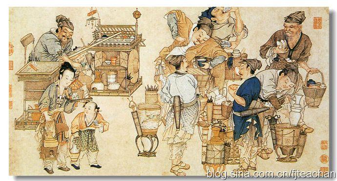 Как в древности люди торговали вещами («дунси»). Фото: secretchina