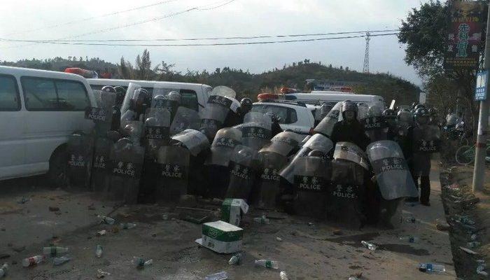 Многотысячный протест на юге Китая перерос в погромы