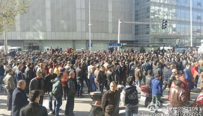 Для подавления протеста перевозчиков в Китае власти прислали антитеррористический отряд