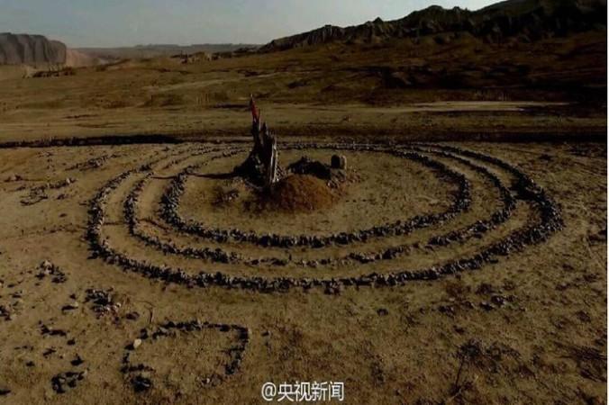 Загадочные каменные круги в Турфане, на северо-западе Китая. Фото: ChinaDaily.com.cn