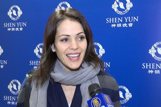 Таня Риверо посетил концерт Shen Yun Performing Arts в Театре Дэвида Коха в Нью-Йорке 17 января 2016 г. Фото: Courtesy of NTD Television