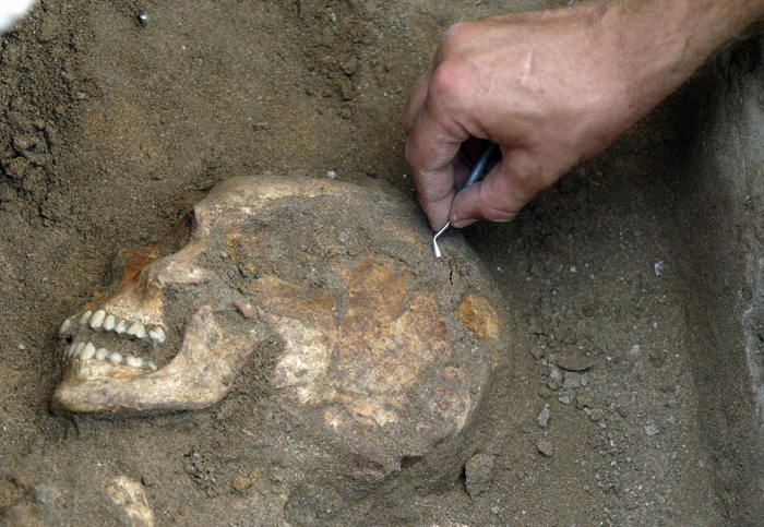 Археологи, останки
