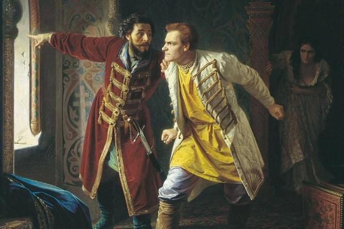 «Последние минуты жизни Лжедмитрия I», картина Карла Венига, 1879 год Фото: public domain/wikipedia