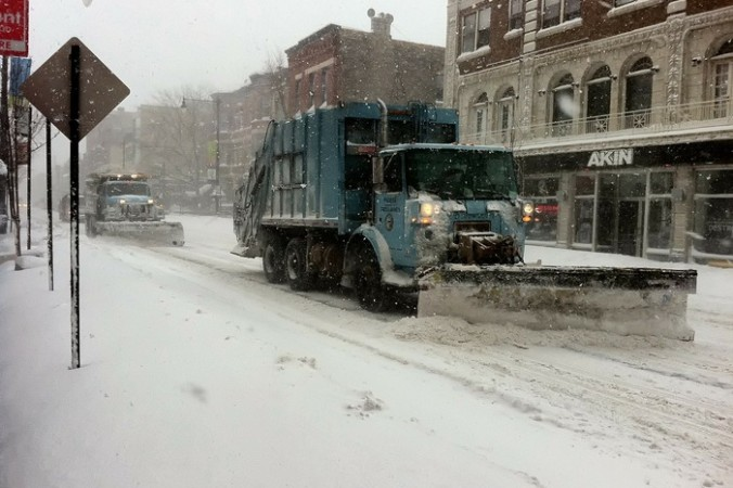 Снежный шторм в США