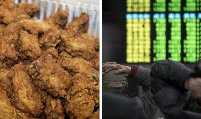 Курьёзы из Китая: куриные крылышки, снег и биржа