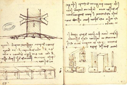 Оригинальные наброски Леонардо да Винчи с планом моста Золотой рог. Фото: Public Domain