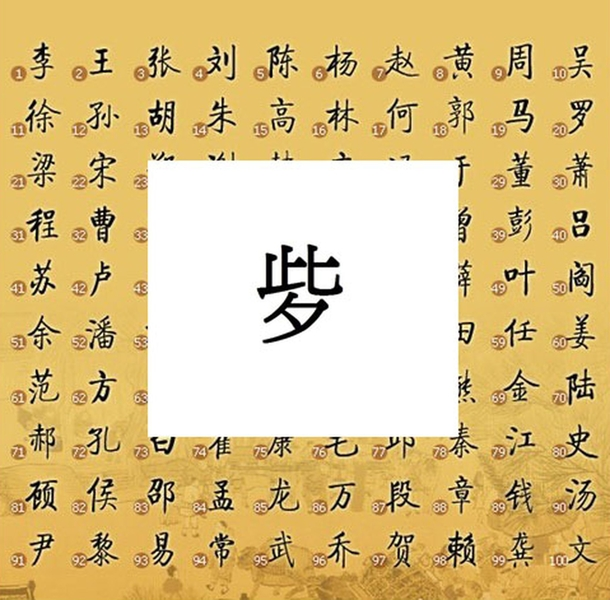 Редкий иероглиф в фамилии китаянки, которого нет в большинстве словарей. Источник: epochtimes.com