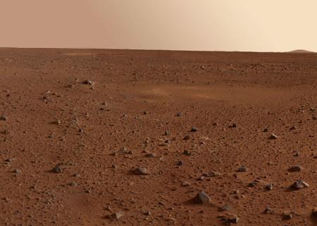 Участок кратера Гусева (мозаика снимков марсохода «Спирит». Фото: Wikipedia Commons