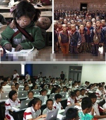 Между китайскими школьниками в сельских и городских школах настолько большая разница, будто это две разные страны. Фото: Kanzhongguo