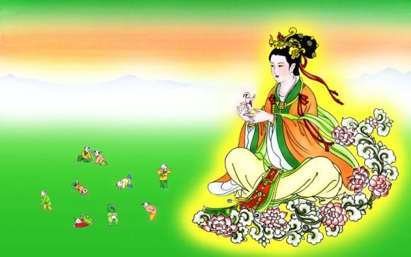 Богиня Нюйва создаёт людей. Фото: Epoch Times
