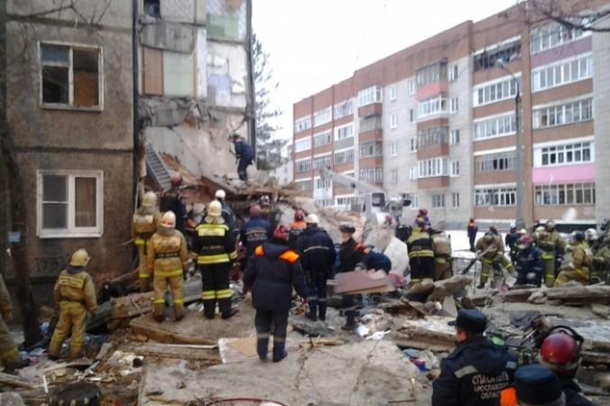 Обрушение дома в Ярославле. Фото: 76.mchs.gov.ru