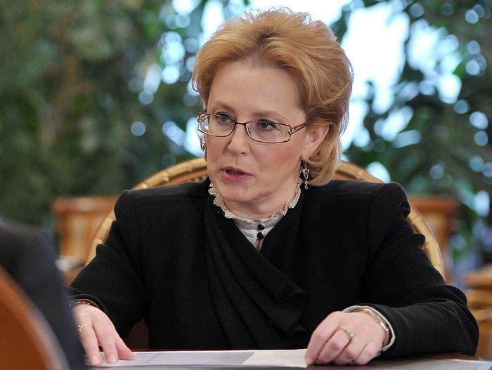 Министр здравоохранения РФ Вероника Скворцова. Фото: ALEXEY DRUZHININ/AFP/Getty Images