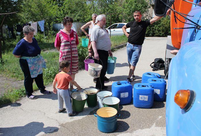 Дефицит воды в Крыму, 2014 год. Фото: YURIY LASHOV/AFP/Getty Images